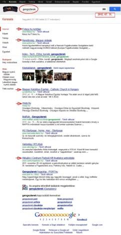 """Google keresés: """"gengszerek"""""""