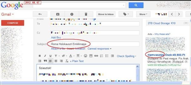 Hirdetések Gmail-ben