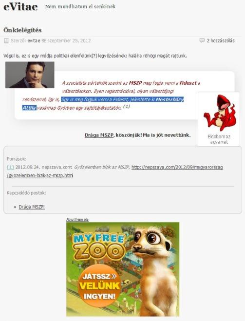 MSZP & WP reklám