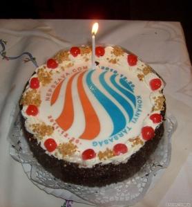 A Kohányi Társaság egy éves születésnapi tortája 2011 decemberében
