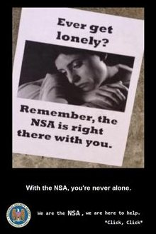 The NSA never lets you alone