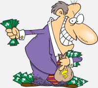 Man with money bag