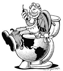 Earth is toilet