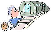 Passenger running after train